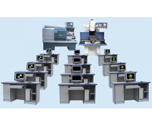 多媒体网络型教学生产两用数控机床机电一体化编程实验室